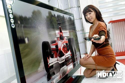 LG LZ9700 самый большой 3D LCD телевизор