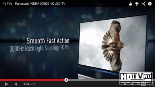 Panasonic представляет телевизоры AX900 на видео